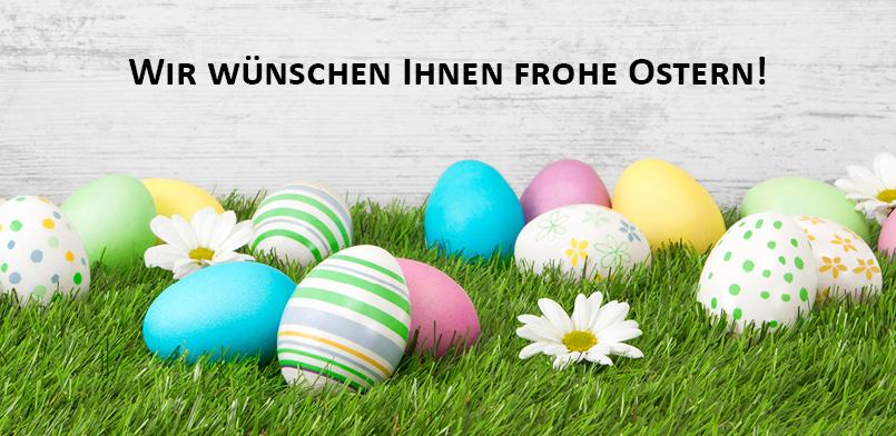 Unsere Öffnungszeiten über Ostern finden Sie hier